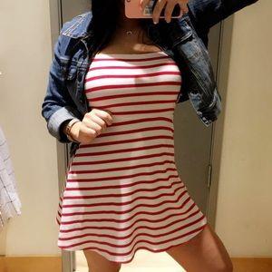 Straight Neckline Dress